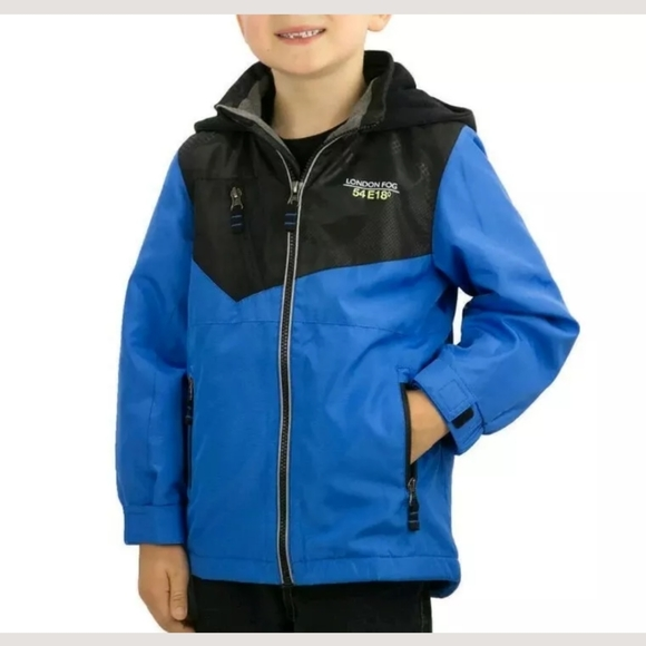LONDON FOG® Boys/' 2T 3T Lightweight Blue Rain Jacket NWT